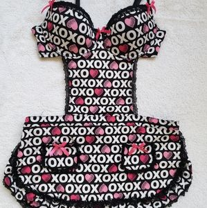 XOXO Logo Heart Intimates Lingerie French Maid